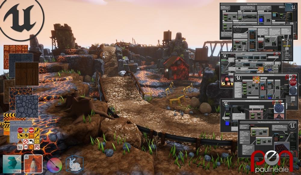 Unreal Engine 4 Info Graphics - Paul Neale